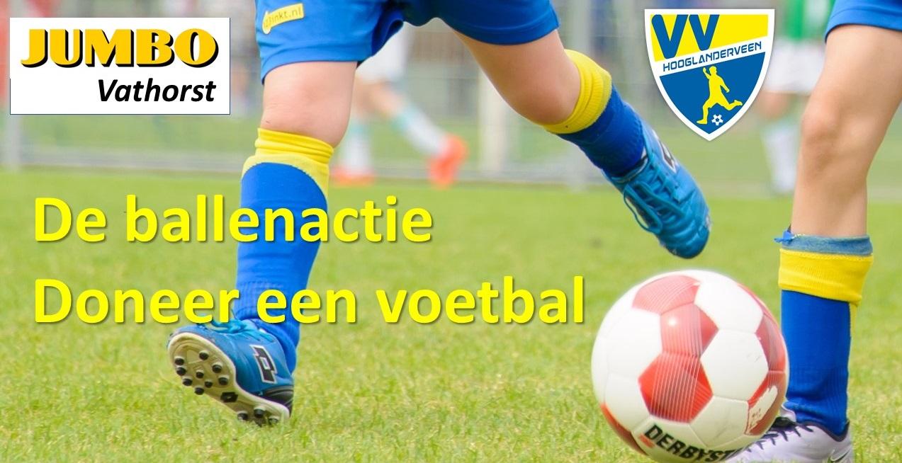 Ballenactie voor vv Hooglanderveen met Jumbo Vathorst: Doneer een voetbal aan je club!